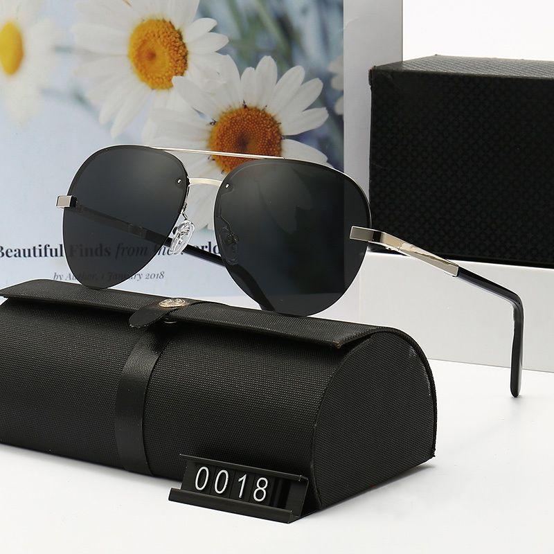 Lunettes de soleil pilote de mode pour hommes et femmes méticuleuses temples de cadre métal classique décontracté design aviateur conduite lunettes de haute qualité HD Polarized lentilles 0032