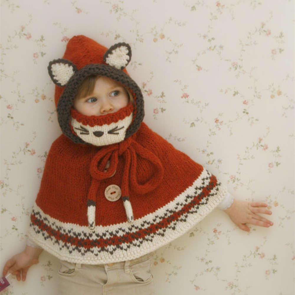 caps máscara infantil raposa capa chapéu outono e inverno animal quente lã bebê