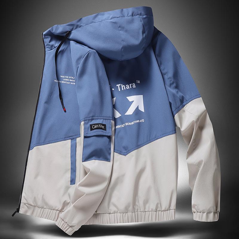 jacket spring and autumn long sleeve coat men's fashion brand Hoodie windbreaker