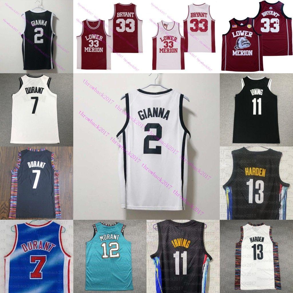 NCAA 2 Gigi Mamba Ball Basketball Jersey Irving 13 Harden Durant Lower Mission # 33 Bryant 1 Booker Williamson 12 Morant