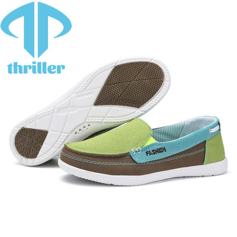 Thriller Women's Canvas Zapatos casuales estilo británico moda suave confort transpirable antideslizante resistencia al desgaste