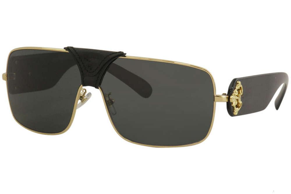 Mens Squared Caroque2207 Золотые черные / из кожи Солнцезащитные очки Велоспорт Очки Мужчины Мода Поляризованные Солнцезащитные Очки Открытый Спортивные Очки с Пакетом