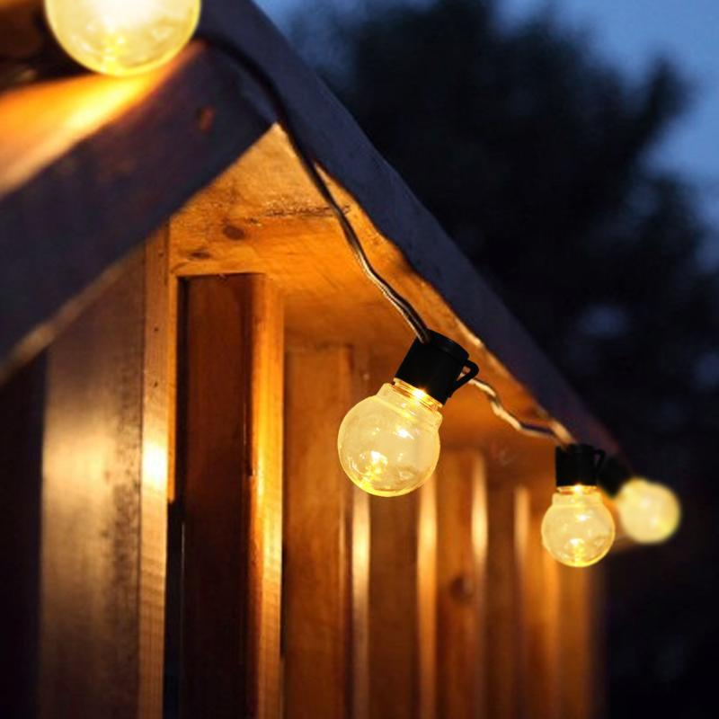 라이트 야외 10/20 글로브 전구 220V 문자열 조명 정원 잔디밭 패티오 웨딩 크리스마스 장식 램프에 대 한 잔디 벽 램프