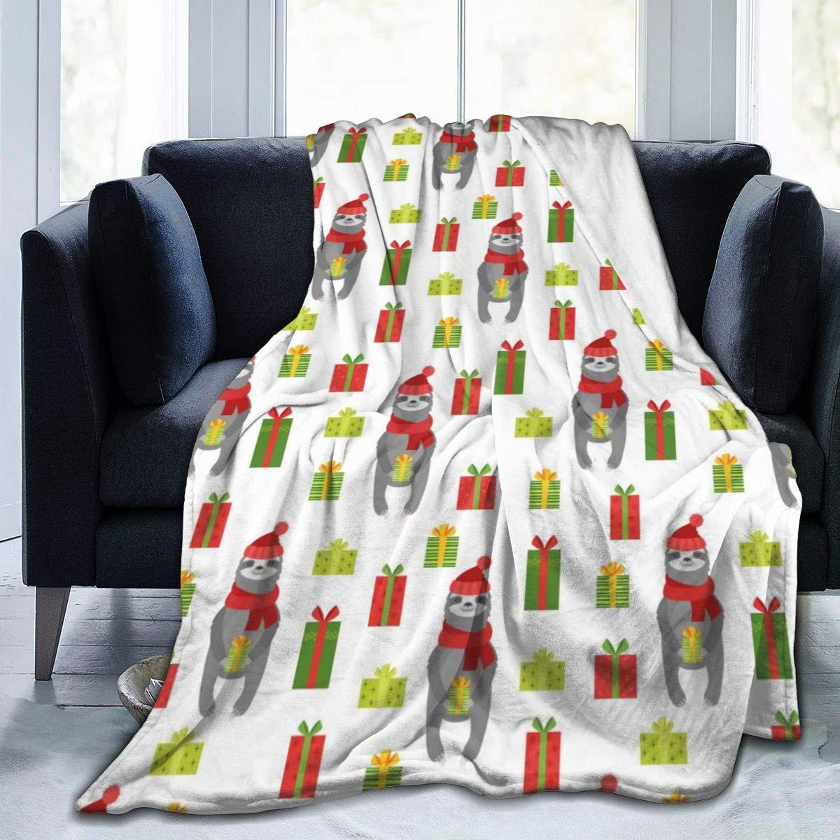 Couverture de jet en molleton pour le canapé - 50x40, légère, paresse de Noël avec des cadeaux jetez des couvertures pour chambre à coucher - doux, peluche,