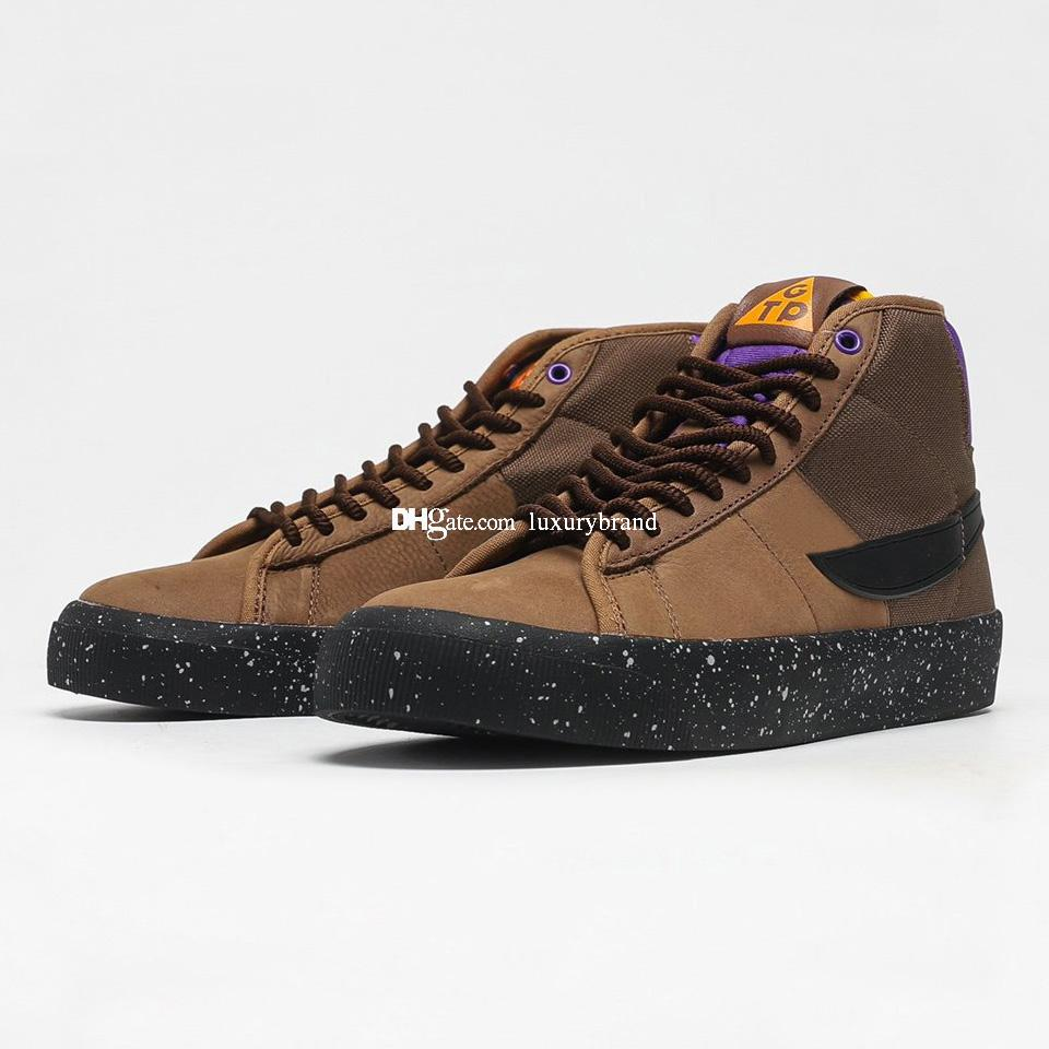 Grant Taylor Skate Stivali per gli uomini Canvas Skates Scarpe da uomo in pelle Sport Scarpe da donna Sneakers da donna Sneaker Sneaker Sport Skateboard in Brown DC0615-200