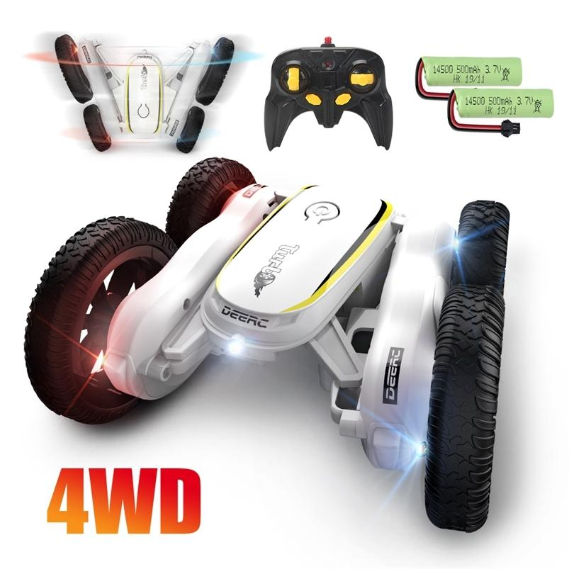 3 cores deerc 4x4 RC Drift Car 4WD de Alta velocidade Crawler Stunt Carro Brinquedos Drift por 360 rotating flips veículos 210729