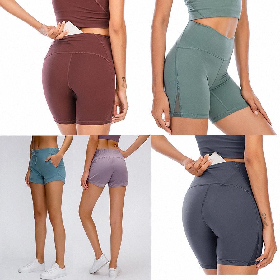 2021 Estilista de mujeres Lu Shorts Vfu Yoga Pantalones Leggings Yogaworld Mujeres Entrenamiento Entrenamiento Conjunto de fitness Use Lady Elástico Mallas Completas Sólido R5SD #