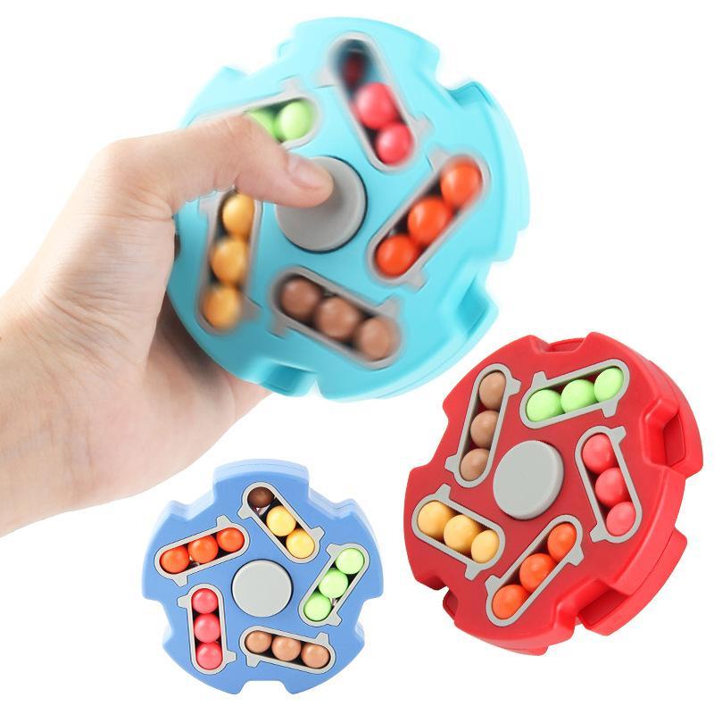 Feijão mágico bola de dois lados bola cubo fidegeta brinquedo crianças inteligência educacional brinquedos mão spinner dedotip gyro top