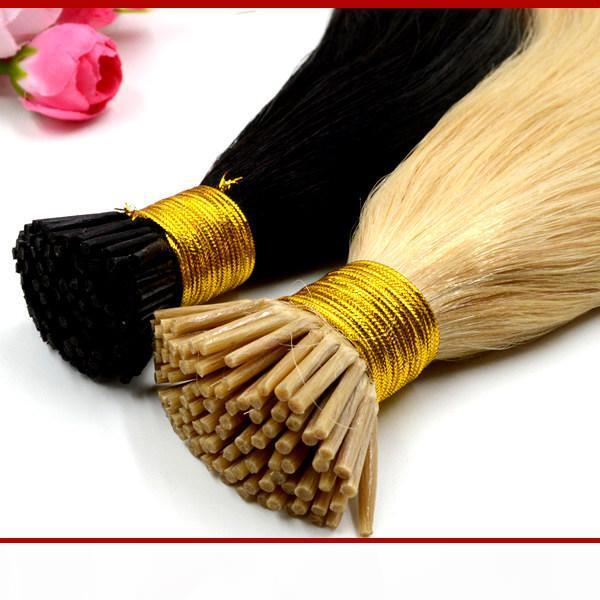"""XCSUNNY 18 """"20"""" أفضل الكيراتين الشعر البشري prebonded الشعر البشري أنا طرف ملحقات 1g s 100gram pk keratin الانصهار الشعر ملحقات"""