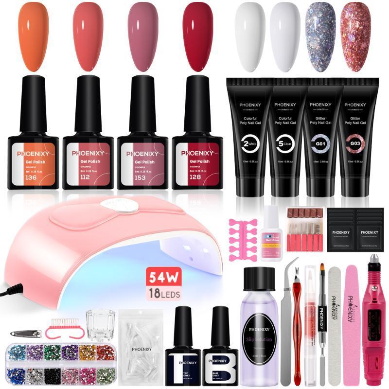 Manicure Set Gel Nail Polish For Extension UV Kits Nails Professional Full Kit Art