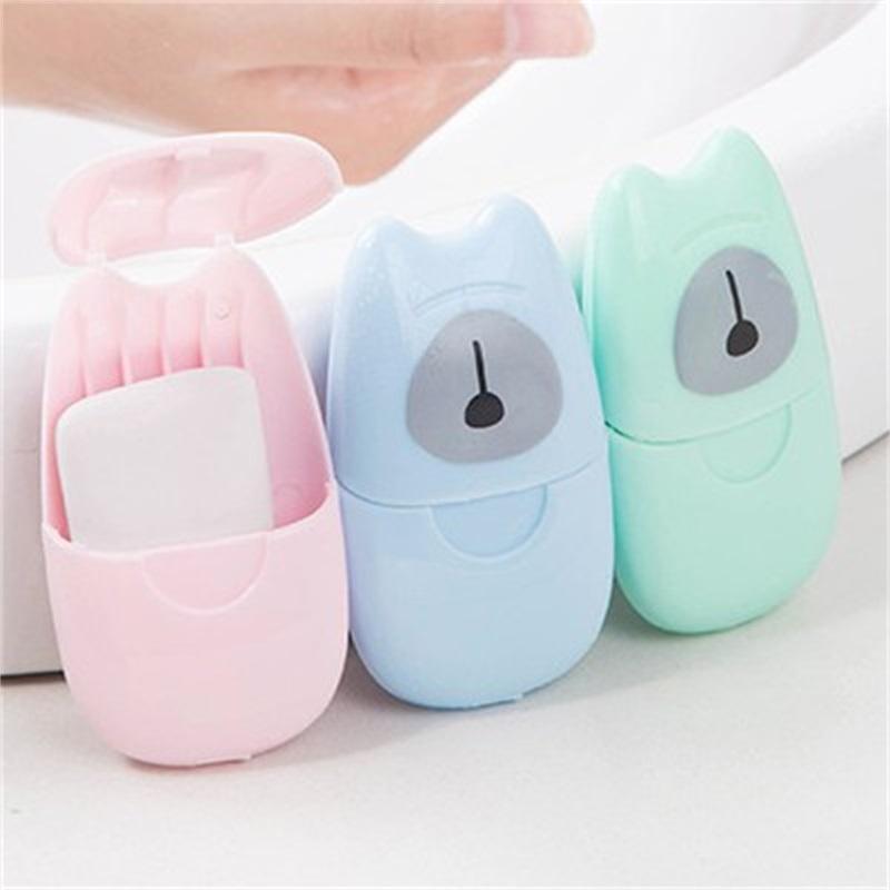 50 pics / caixa grande venda portátil sabão papel sabonetes de viagem flocos flocos à mão lavar sabão limpo esterilização Sabão slockets 313 R2