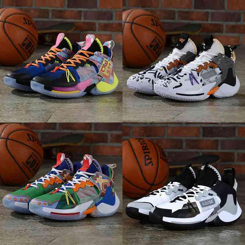 Pourquoi pas zéro0.2 All Star Zero2 Russell Westbrook The Family Home Future Zero 2 Sneakers Hommes Chaussures d'extérieur