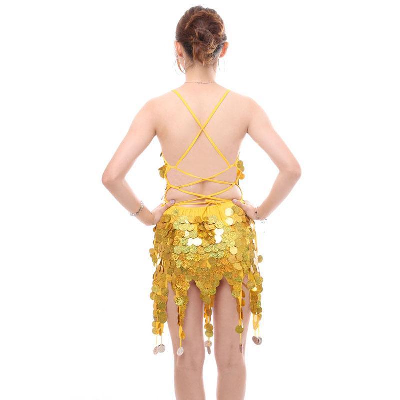 Stile moderno Salsa Samba Rumba Tango Rhythm Dance Abito da ballo per le donne Ragazze Nappa Paillettes Ballroom Dancing Vestiti Costumes Costumes Stage Wear