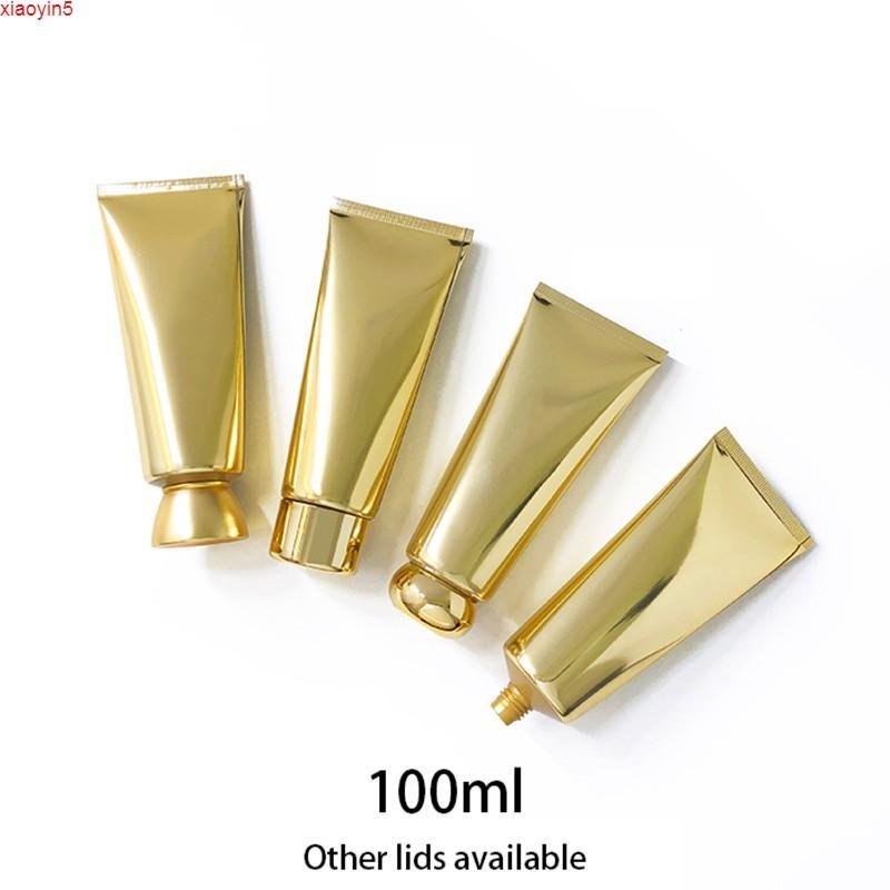 Высокое Quatity100ML Золотой пластиковый сжатый трубку 100 г Пустая косметическая мягкая бутылка для ухода за кожей у кожи для ухода за кожей шампунь лосьон зубной пасты упаковочный контейнер