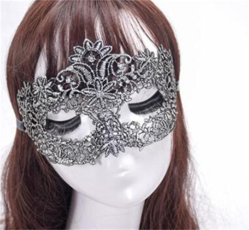 2018 Novo Sexy Lace Mans Máscaras de Bar Foram para Mulheres Lady Girl Masquerade Bola de Natal Halloween Traje Festa Capa 381 V2