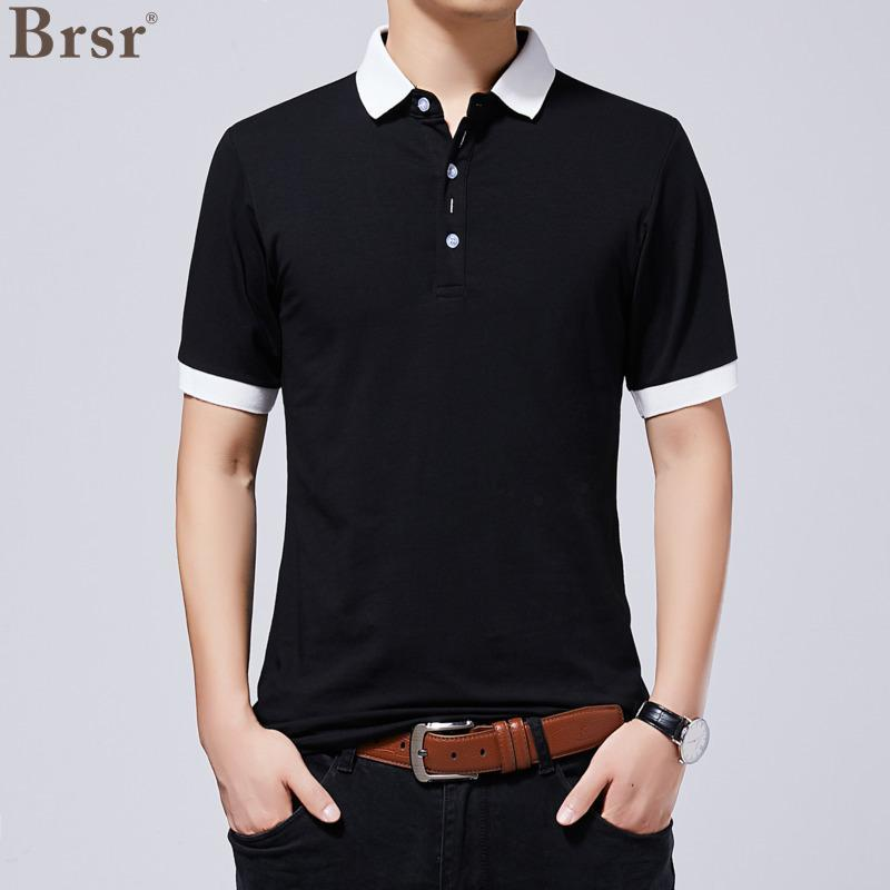Men's Polos Summer Man's Poloshirts Collar Cotton Men Casual Print Tee Top Solid T Shirt For Plus Size 5XL Oversized T-shirt