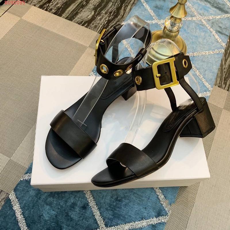 Deri lüks tasarım kadın sandalet sıkıntılı retro donanım toka düşük topuklu çevre dostu yeni malzeme tabanı yaz sandalet