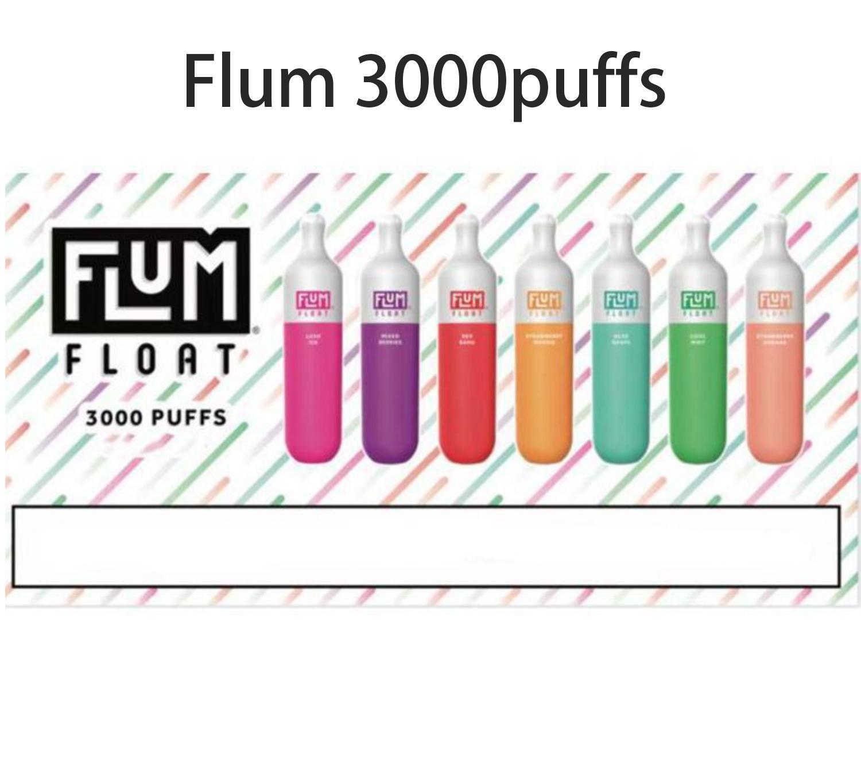 Хорошее качество Flum Flum Одноразовые Vape Pen Electronic Cigarette 3000 Puffs 1250mah 8.0ml e Papor Pod Lux Max Pods Устройства