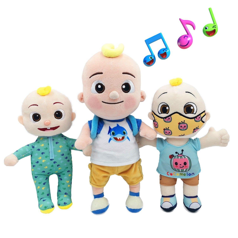 Большая JJ Музыка плюшевая кукла Cocomelon подушка мягкие игрушки для детской плюшевой JJ кукла образовательные фаршины петь игрушки милые дети подарок
