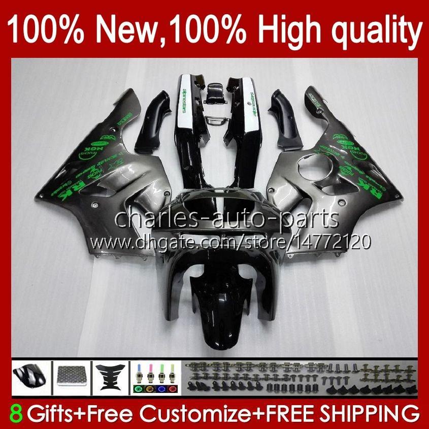Carrosserie voor Kawasaki Ninja ZX-6R Silvery Black BLK ZX600C ZX 6R 636 600CC 600 cc 94-97 Body 50HC.4 ZX-636 ZX600 ZX 6 R ZX636 1994 1995 1996 1997 ZX6R 94 95 96 97 Fairing Kit