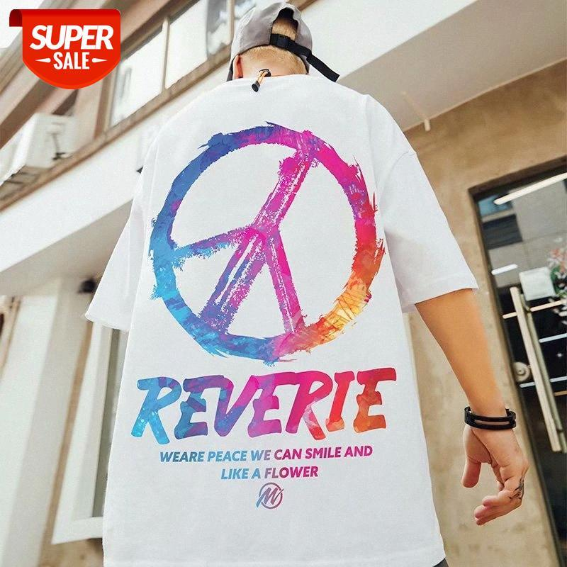 Hip-Hop Boy Ulusal Gelgit Giyim Hiphop Kısa Kollu Erkek Trendy Marka Artı Boyutu T-shirt Yağ Yarım Kollu Trend # BC22