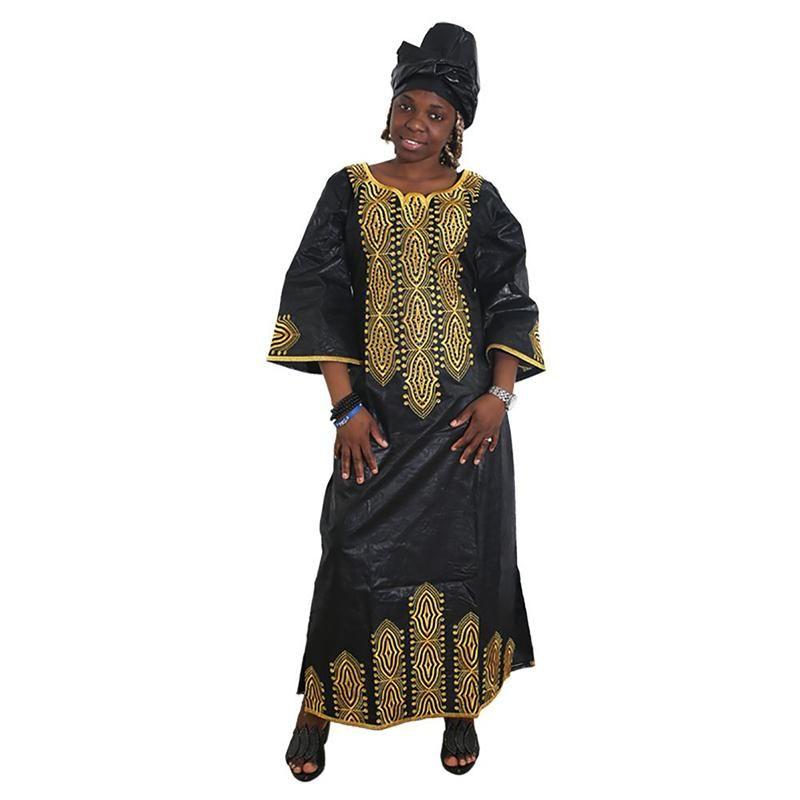 Vestidos para mujeres Vestido largo africano Bazin Dashiki Ropa Partido de bodas Tradicional Tallas Tallas Tradicionales Ropa étnica