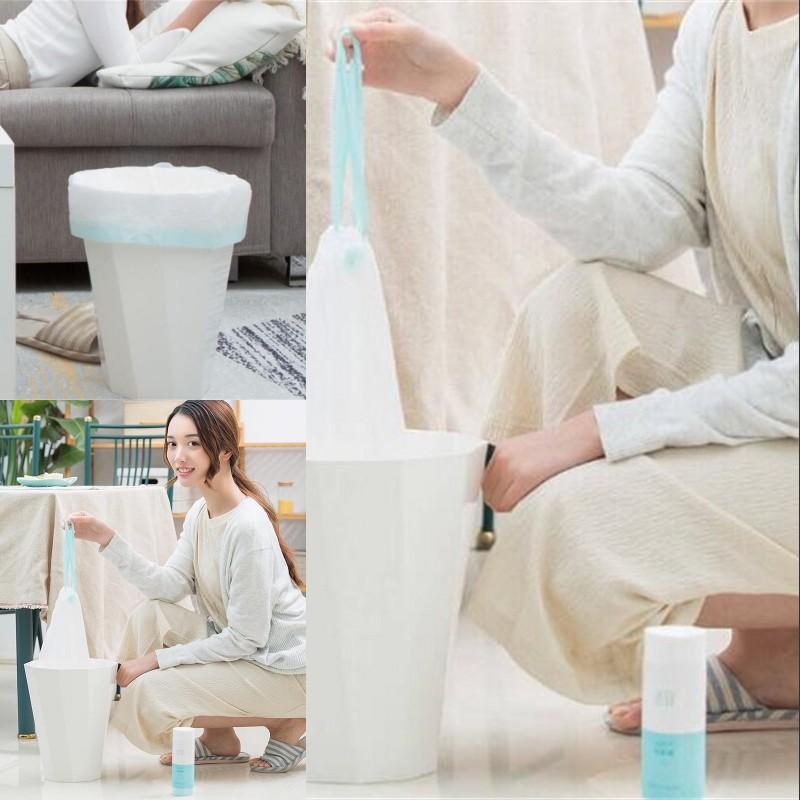 الأصلي xiaomi youpin التوتير رشاقته المطبخ المنزلية الأوتوماتيكية القمامة يمكن بن القمامة القمامة حقيبة البلاستيك 20 قطعة / الوحدة 392 v2