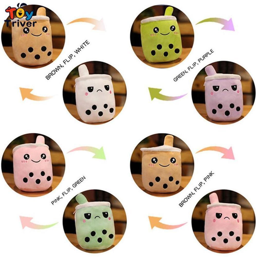 새로운!!! 귀여운 가역적 인 보바 거품 우유 차 컵 음료 봉제 장난감 박제 인형 Kawaii 아기 아이들 아이들 소녀 선물 홈 룸 장식 도매