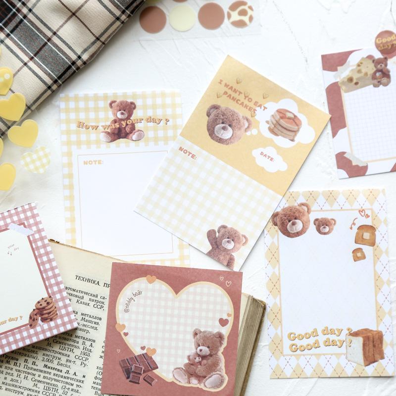 Hediye Wrap Sevimli Ayı Kağıt Memo Yapışkan Not DIY Karalama Defteri Çıkartmalar Kawaii Pedleri Listelemek için Paperlaria Kırtasiye