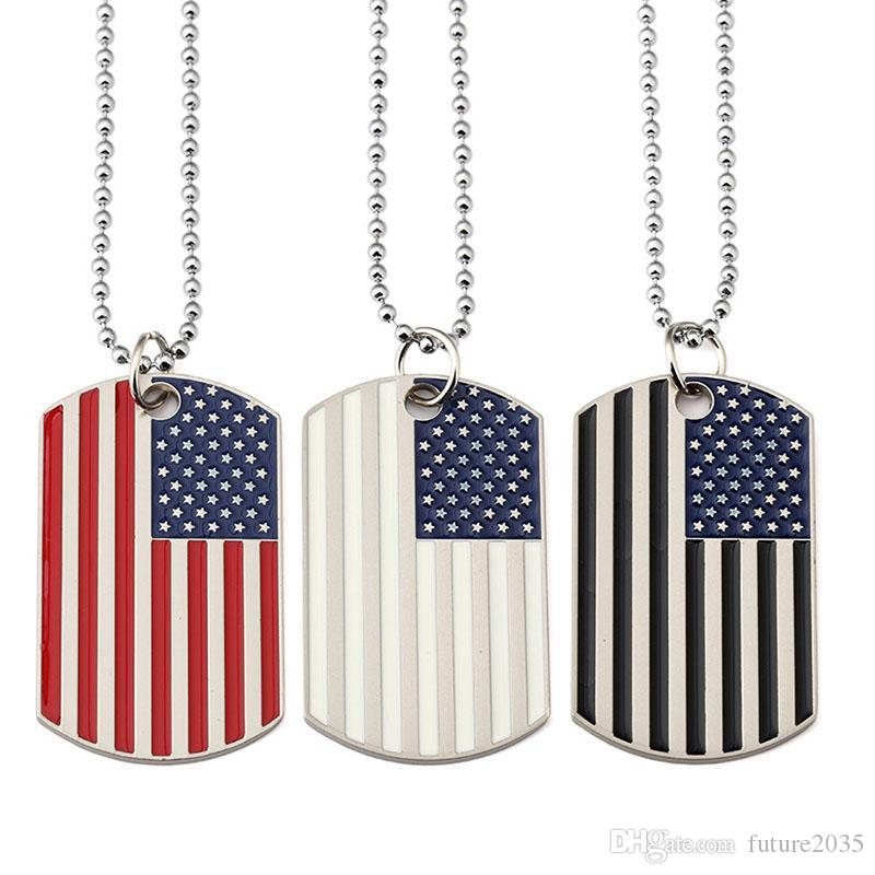 Party Decoration Necklace American Flag Pendants Necklaces Creative Gift