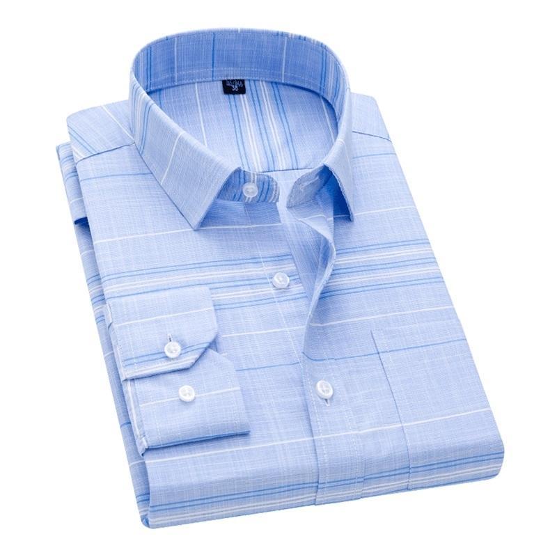 Davydaisy Новое поступление мужчины рубашка с длинными рукавами мужской плед Printl Business платье рубашки рубашки бренда рабочая рубашка мужчина DS262 210322