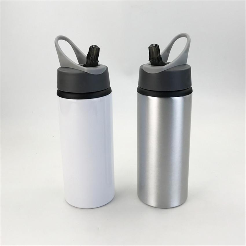 Tumblers de sublimação com lidar com garrafas de água de alumínio branco em branco canecas Themal transferência Beber copos A02