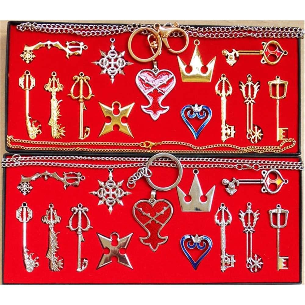 Kolye Krallığı Kalp Anahtar 13 Parça Kolye Blade Seti Kolye