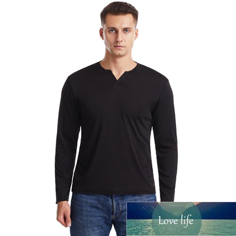 Fashion Mens Slim Fit Fitness Long Sleeve T-Shirts Stylish Luxury Men V Neck Elasticity T Shirt Male Tops Tee Large size