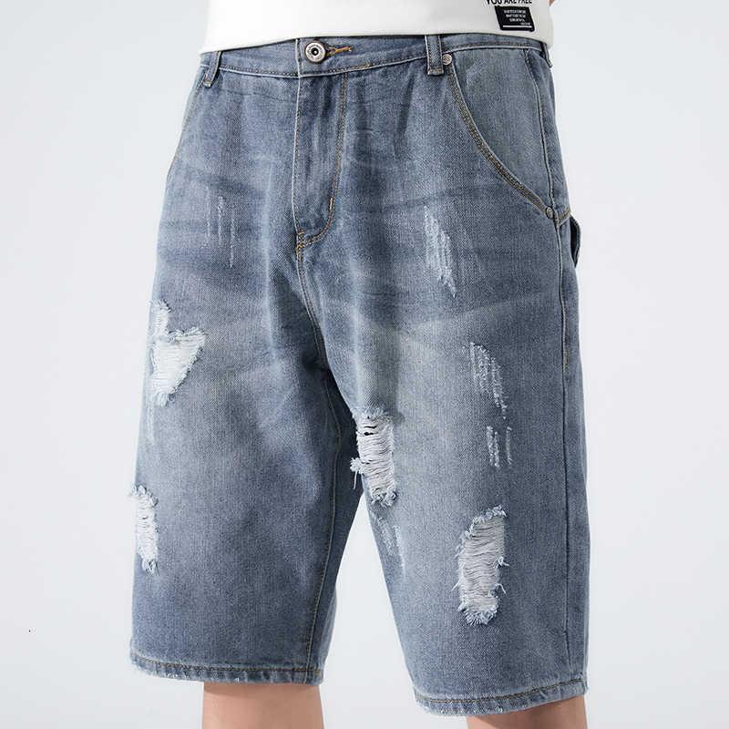 Tallas grandes Zomer Baggy Denim Shorts MODE MODO HOMBRES CASOS CASOS RECOMENDO HOMBRE JEANS ROMPIED
