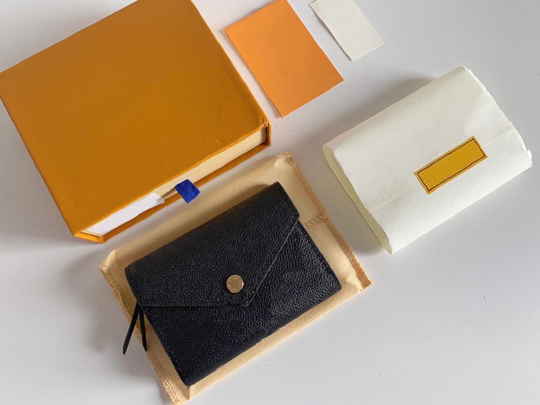 고품질 Luxurys 디자이너 지갑 지갑 가방 패션 짧은 빅토린 지갑 엠보싱 모노그램 empreinte 클래식 팔라스 카드 홀더 Zippy 동전 지갑
