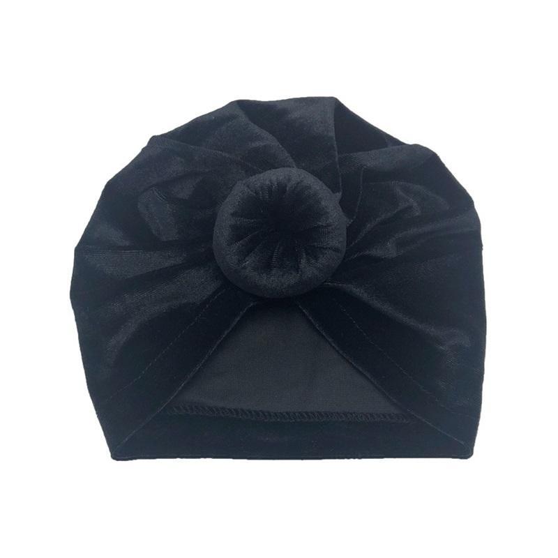 المخملية تويست عقدة العمامة قبعة متعددة الألوان دونات نوع تصميم معقود وشاح كاب الوليد الطفل جميل رئيس ديكور قبعات 4 2MC L2