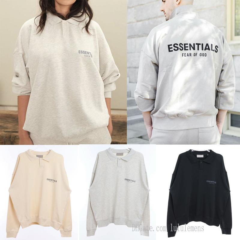 high quality essential Mens and womens polo hoodies Leisure fashion trends fear of god fog essentials men women designer tracksuit JerrK9V9#