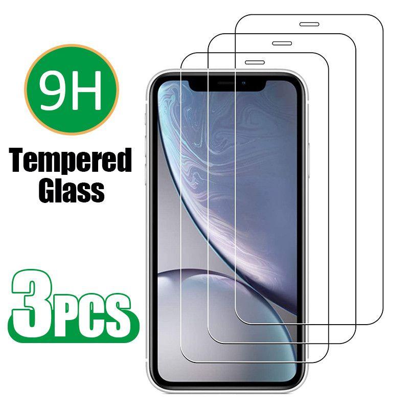 (3 confezione) / 1 lotti proteggi schermo per iPhone 12 11 Pro Max XS XR x 7 8 Plus 6 6S Mini Pellicola protettiva in vetro temperato 0.33mm con scatola