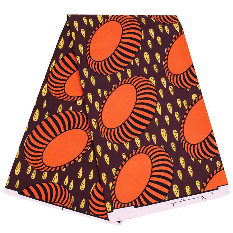 2021 Poliéster Cera Imprime Tecido Ankara Binta Real Cera de Alta Qualidade 6 jardas Tecido africano para vestido de festa FP6423
