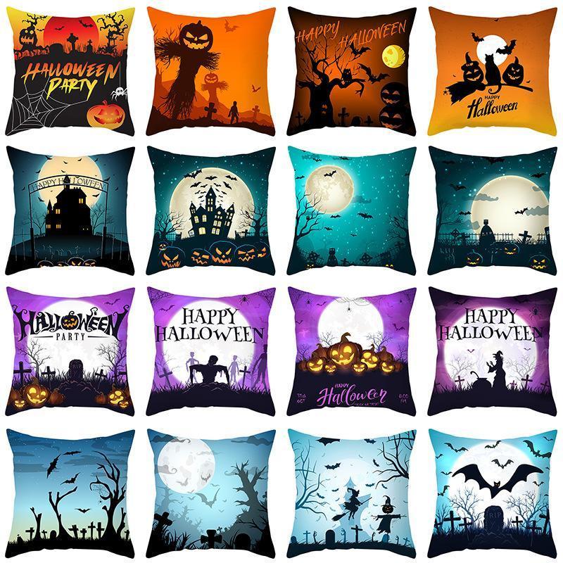 Kissen / dekoratives Kissen Halloween-Abdeckung dunkler Kürbisschläger