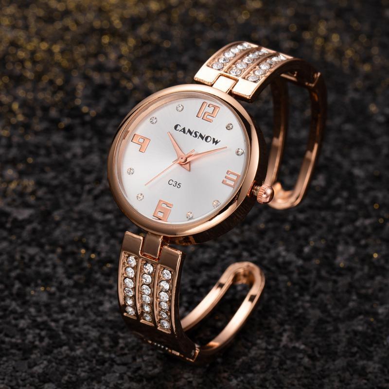 팔찌 시계 여성들 럭셔리 스테인레스 스틸 시계 쿼츠 시계 여자 패션 숙녀 손목 시계 여자 몽트르 femme 손목 시계 wristwatche