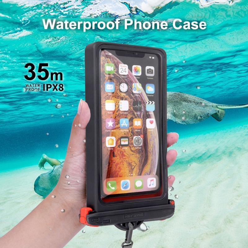 Su geçirmez Telefon Çantası Şeffaf Sürüklenme Dalış Yüzme Çantaları Kuru Kılıfı IPX8 Kapakları Tam Görünüm Kılıf Hücreli Torbalar