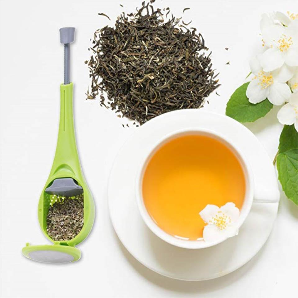 Çay süzgeçleri demlik dahili piston sağlıklı yoğun lezzet tekrar kullanılabilir çanta plastik kahve süzgeci ölçmek girdap dik karıştırın basın