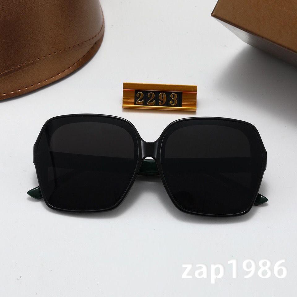 2021 Yüksek Kaliteli Tam Çerçeve Moda Marka Tasarımcısı Güneş Gözlüğü Büyük Kare Çerçeve Erkekler Ve Kadınlar Lack Renk Bayanlar Gözlük
