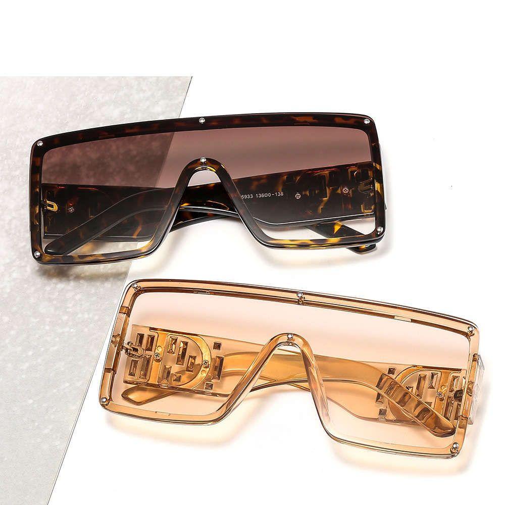 Large de lunettes de soleil d'une pièce de soleil décoratifs décoratifs décoratifs de grand cadre de lunettes de soleil résistant aux rayons UV incrustés de diamants 6933