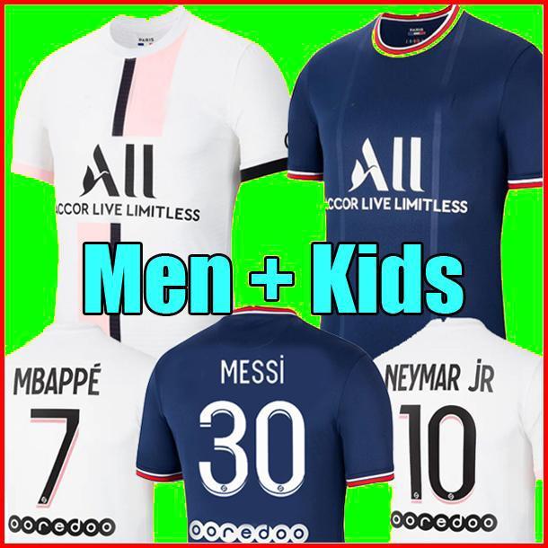 PSG jersey 21 22 MESSI camisas de futebol 2021 2022 Paris saint germain camisa NEYMAR JR MBAPPE jersey Survetement futebol kit mulheres camisa de futebol quarto 4o