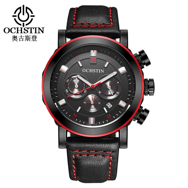Moda Cronógrafo Relojes para hombre Top Machos Reloj de cuarzo Relogio Masculino Reloj de pulsera de relojes de hombre