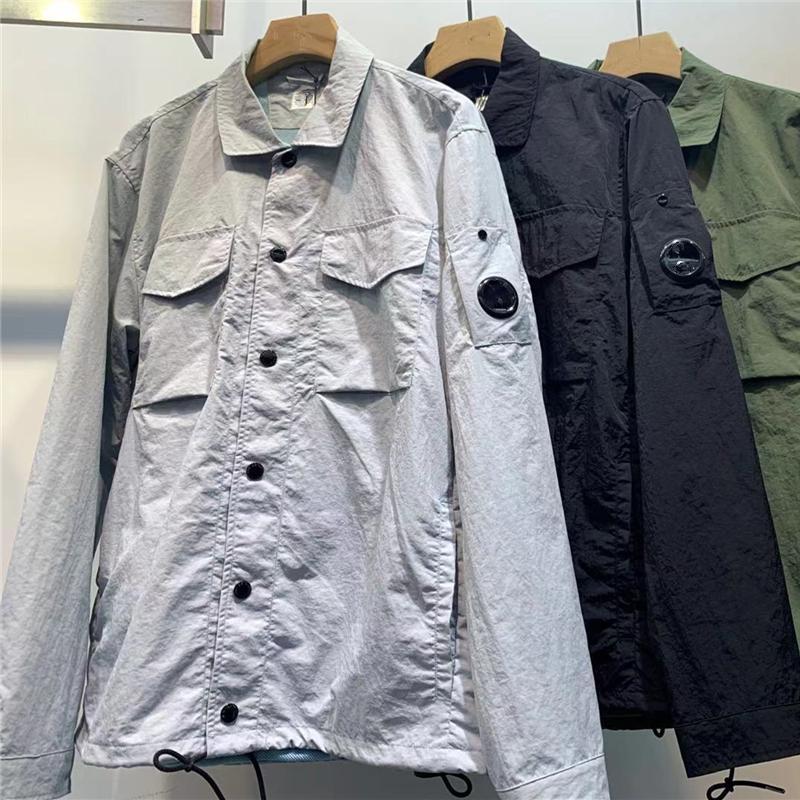 Topstoney Mens Shirts 2021 Konng Gonng Vestes Printemps et automne Mode Manteau Casual Chemise à manches longues