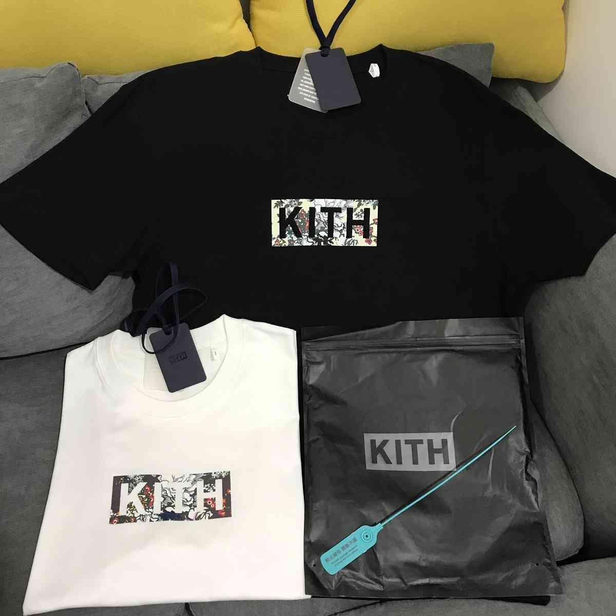 Mode European et American Minority Marque Populaire Ceres Kith Classic Floral Coton Coton Basic T-shirt à manches courtes à manches courtes
